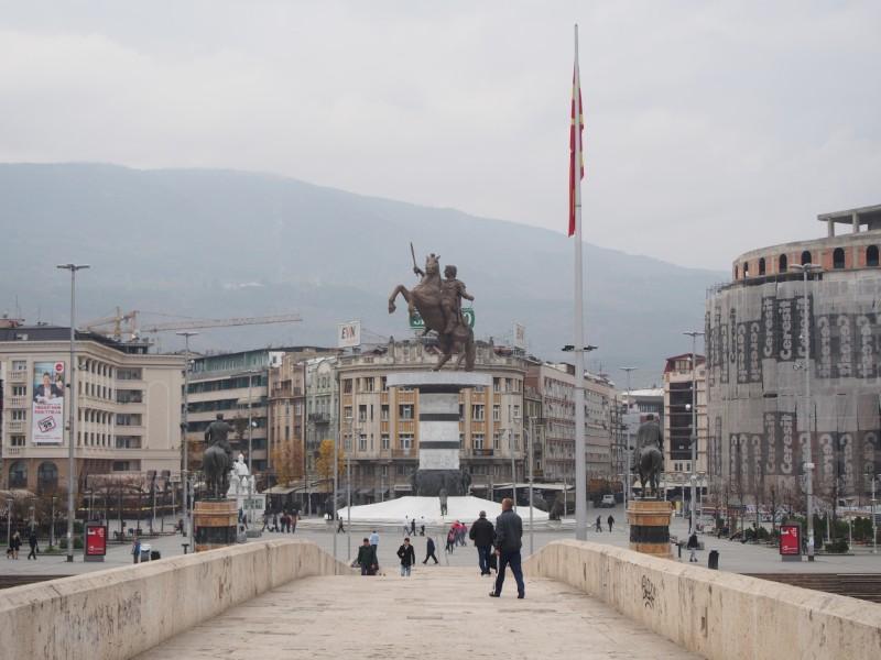 マケドニアの首都スコピエ